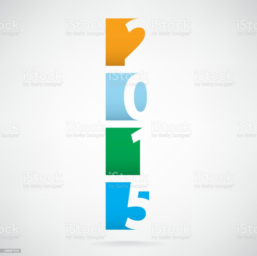 Creative happy new year 2015 text design royalty-free stock vector art
