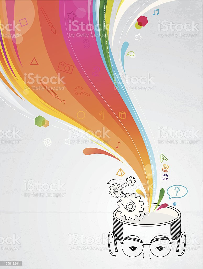 Creative head royalty-free stock vector art