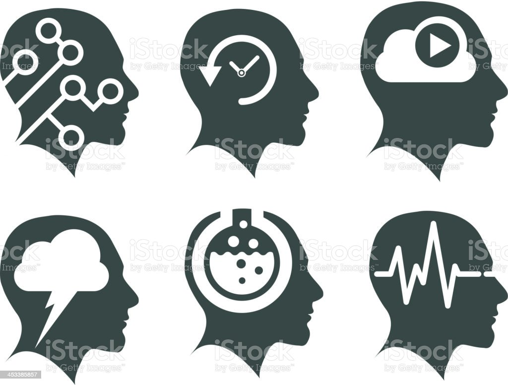 Creative Heads - Illustration royalty-free creative heads illustration stock vector art & more images of brain