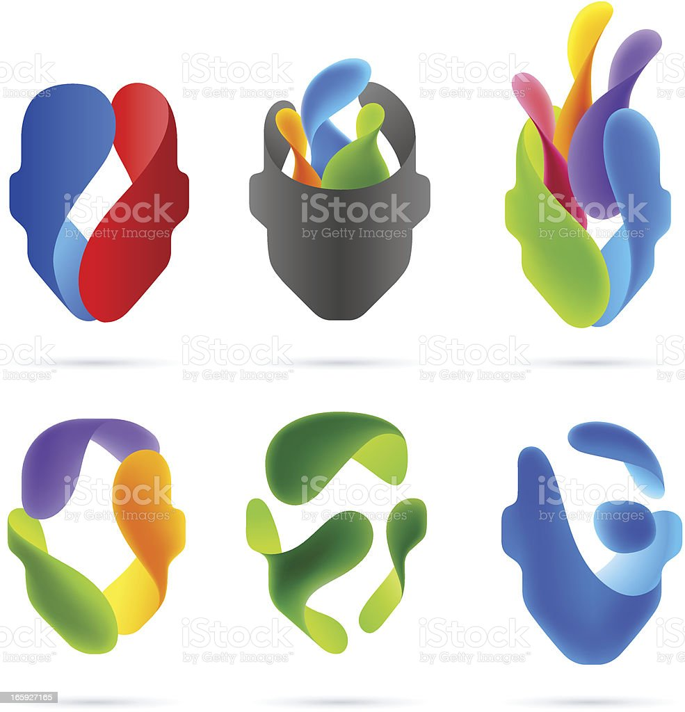 Creative Heads vector art illustration