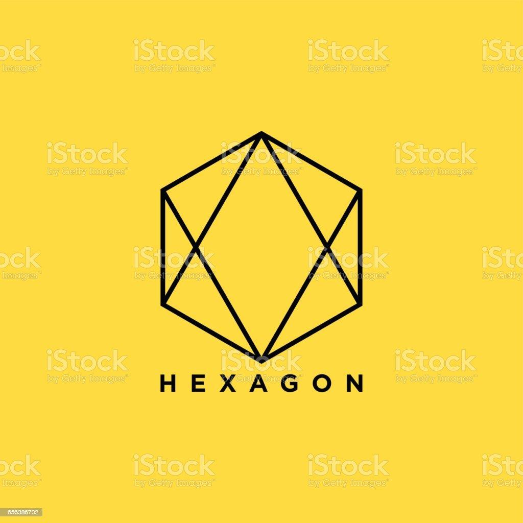 Illustration créative de symbole de l'hexagone - Illustration vectorielle
