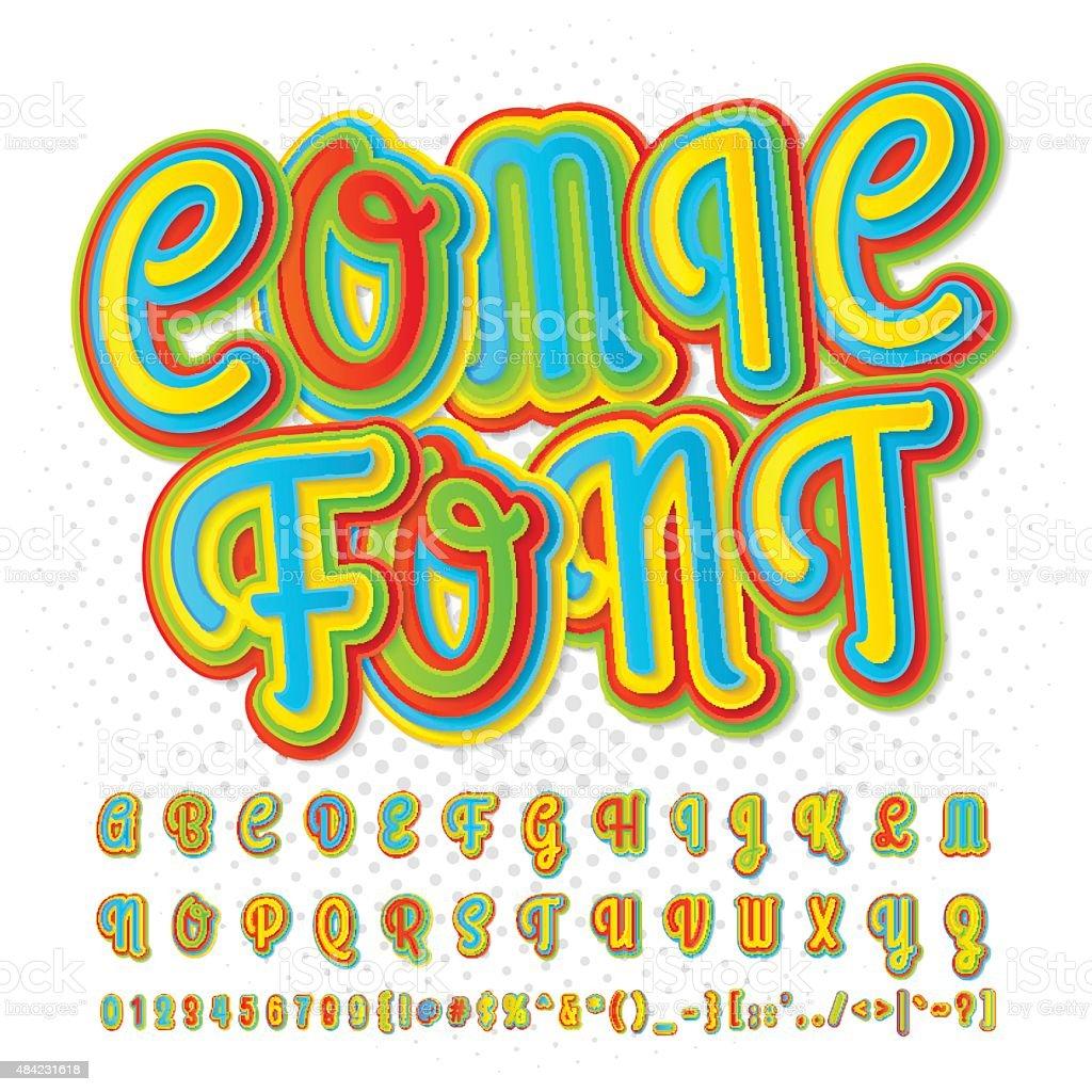 Creativecomic Schriftart Aus Alphabet Comics Popart Stock Vektor Art ...