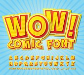 Multilayer funny colorful 3d letters and figures for kids' illustrations, comics, banners.