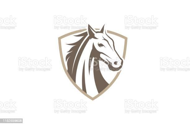 Creative horse shield logo design symbol vector illustration vector id1152559608?b=1&k=6&m=1152559608&s=612x612&h=1qwajwpvjzlt6q grjillmjlpbnrygezh88xiprecio=