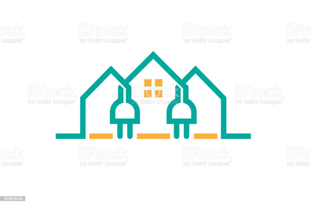 Creative House Electric Plug Power Stock Vector Art & More Images of ...