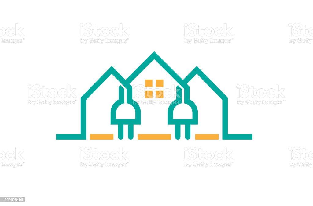maison cr ative prise lectrique puissance cliparts vectoriels et plus d 39 images de abstrait. Black Bedroom Furniture Sets. Home Design Ideas