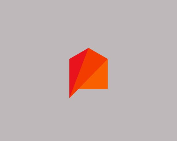illustrations, cliparts, dessins animés et icônes de modèle de conception icône maison créative. vecteur de couleur icône signe icontype - logos immobilier