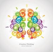 Creative Human Brain in the Work.