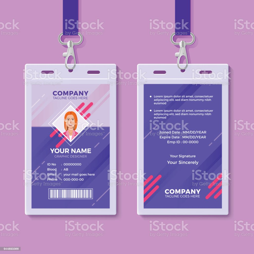 Creative Id Card Design Template Stock Vector Art & More Images of ...