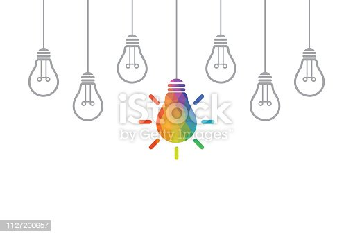 Creative Idea Concepts with Light Bulb