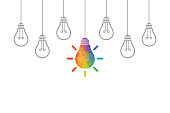 Creative Idea Concepts with Light Bulb