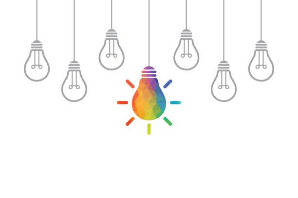 전구를 크리에이 티브 아이디어 개념 - 개념 stock illustrations