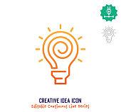 istock Creative Idea Continuous Line Editable Icon 1249615504