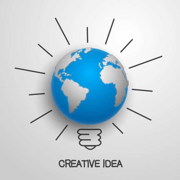 Créatif idée de la terre. illustration vectorielle - Illustration vectorielle