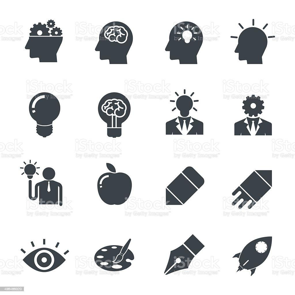 Creative Idea Icon. vector art illustration