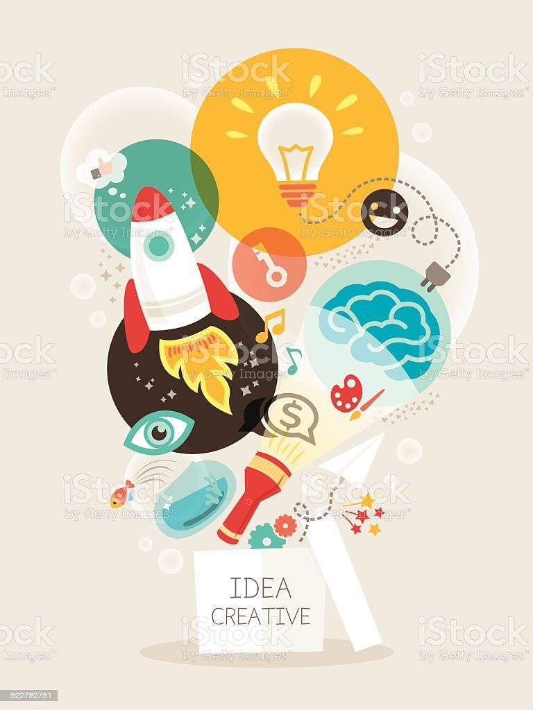 Creative idea Illustration vector art illustration