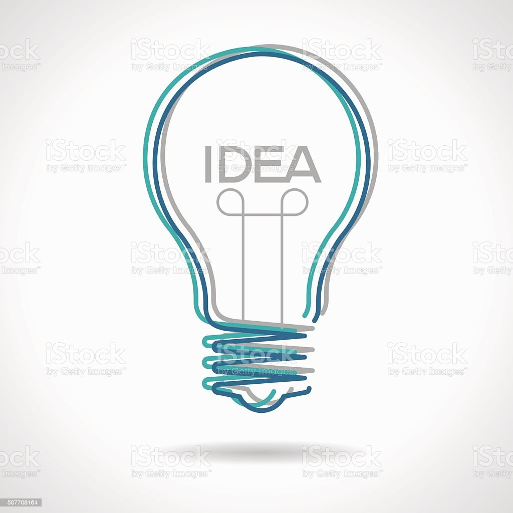 Creative idea in bulb shape vector art illustration