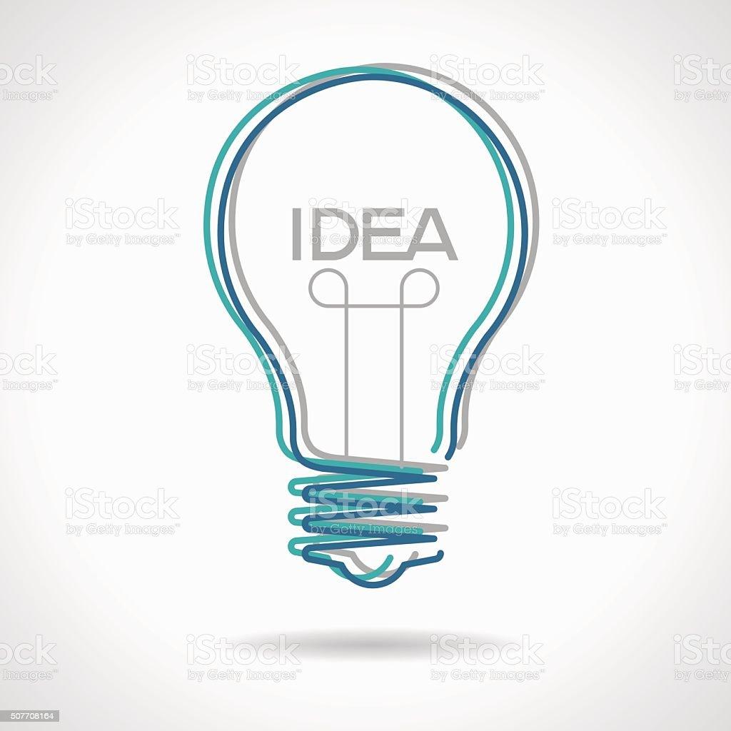 En forma de bombilla idea creativa - ilustración de arte vectorial