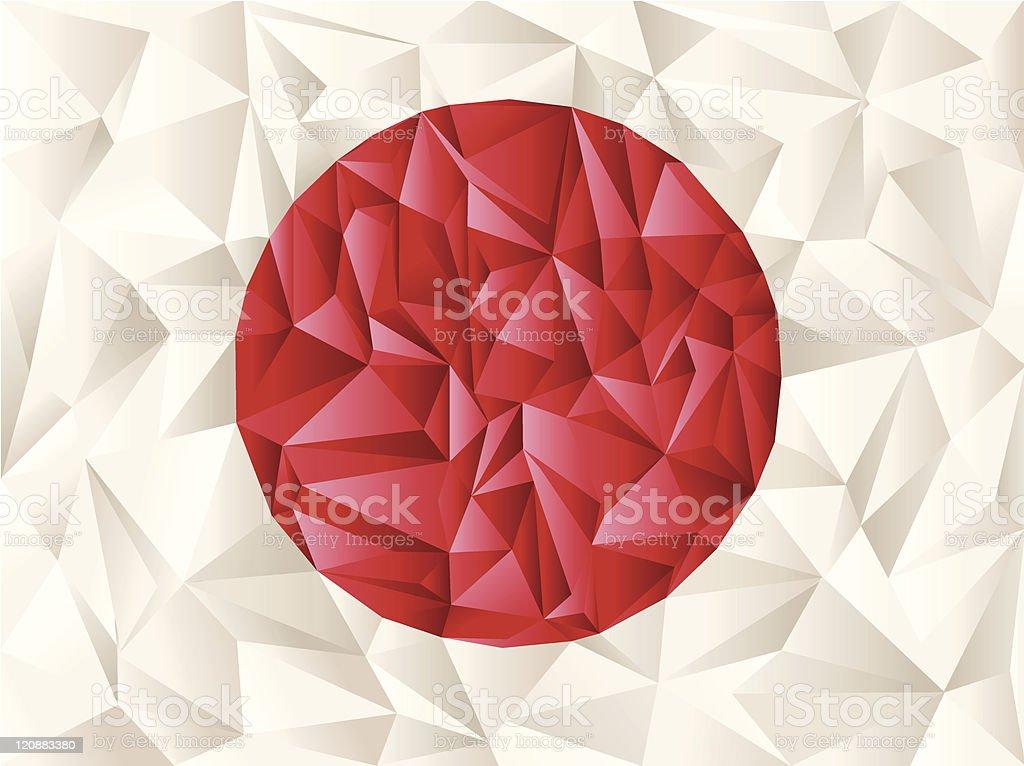 Creative idea: Japan flag origami royalty-free stock vector art