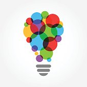 an amazing Creative idea vector design illustration, light bulb colorful concept