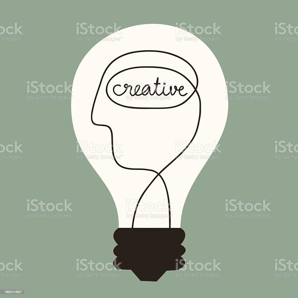 Creative Idea royalty-free stock vector art