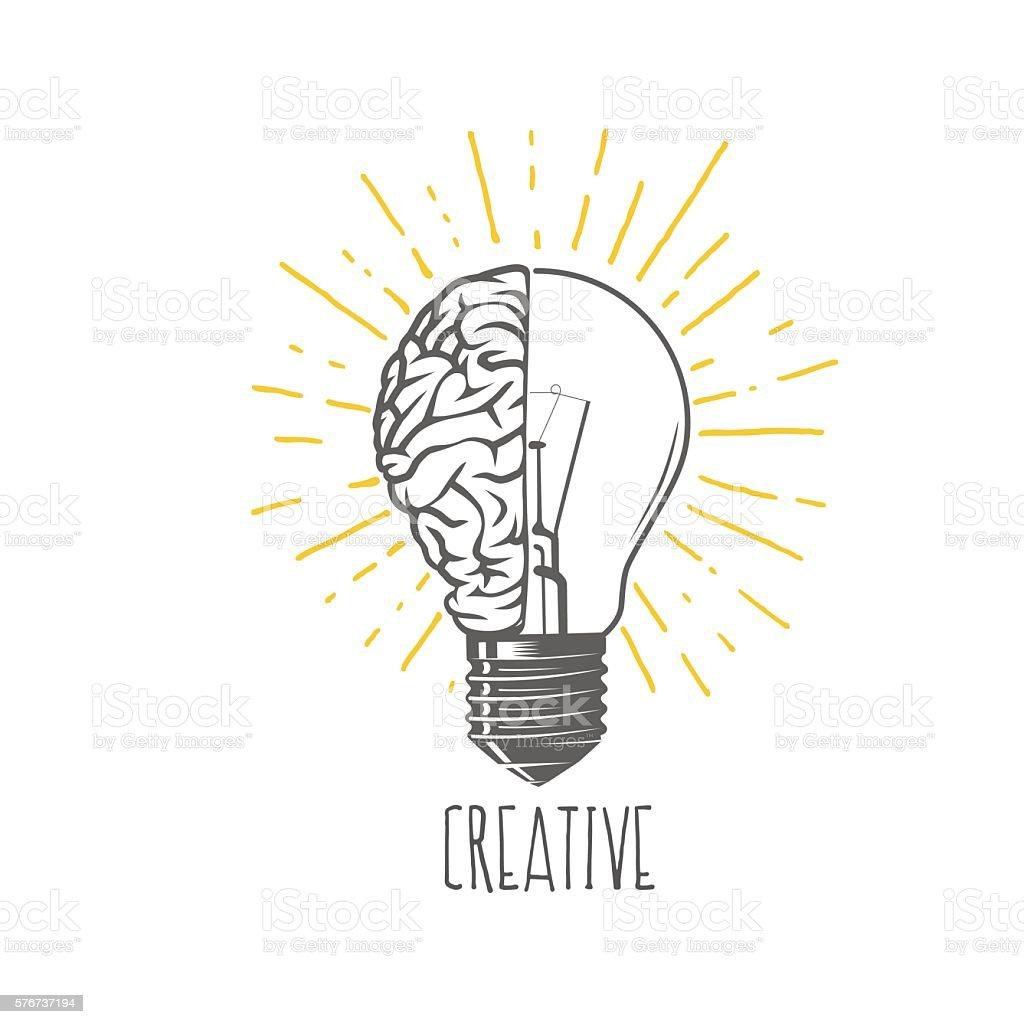 Creative idea vector art illustration