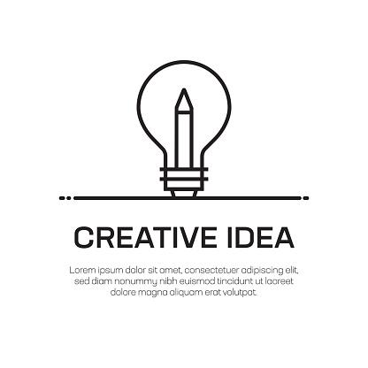 Creative Idea Vector Line Icon - Simple Thin Line Icon, Premium Quality Design Element