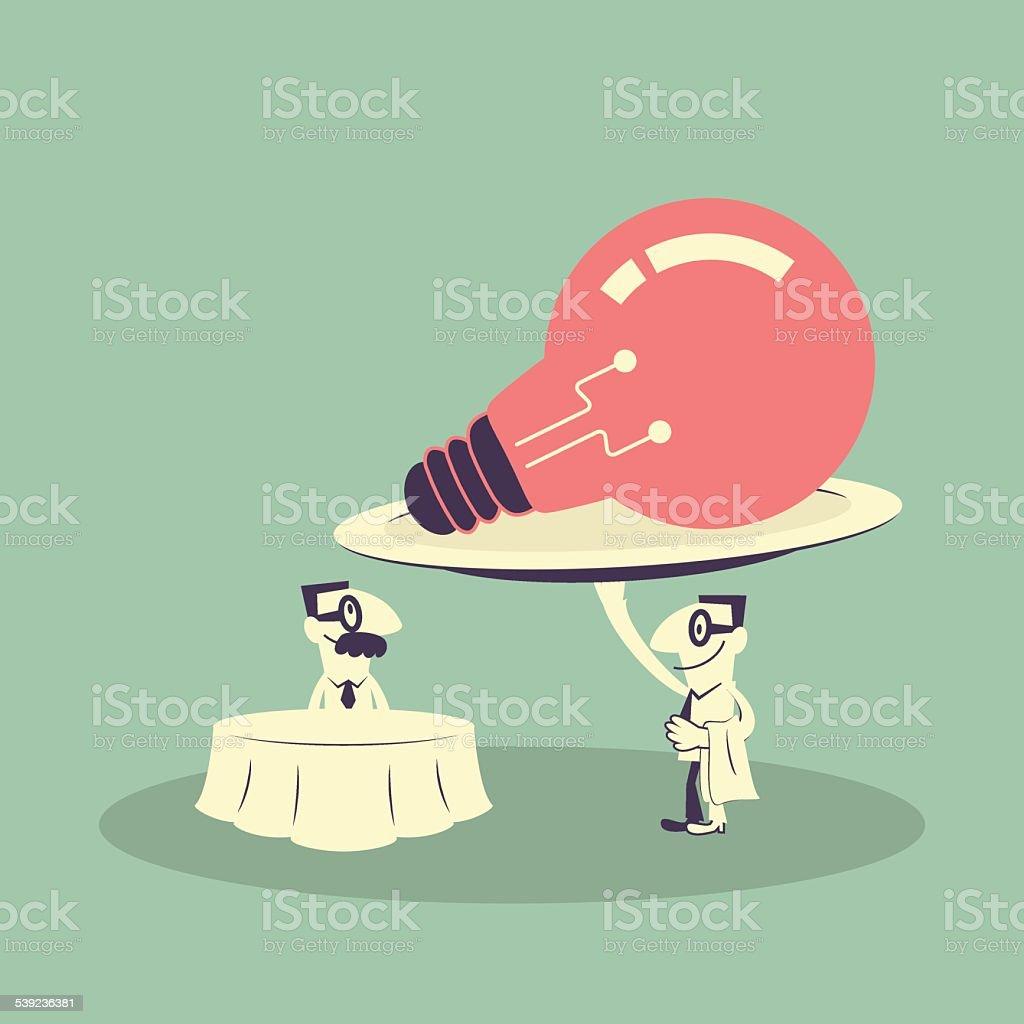 ideas creativas, un cordial servicio al cliente y ejecutivo, placa de lámpara ilustración de ideas creativas un cordial servicio al cliente y ejecutivo placa de lámpara y más banco de imágenes de 2015 libre de derechos