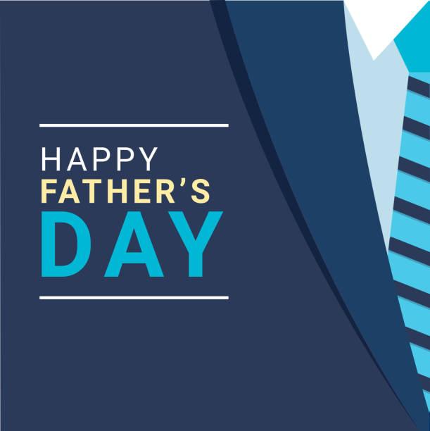 ilustrações, clipart, desenhos animados e ícones de ilustração creativa do terno formal e da gravata para o projeto feliz do poster da celebração do dia de pai. - feliz dia dos pais