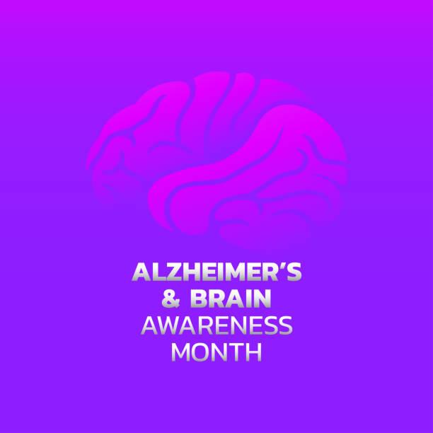 Creative illustration,poster or banner of World Alzheimer's day. vector art illustration