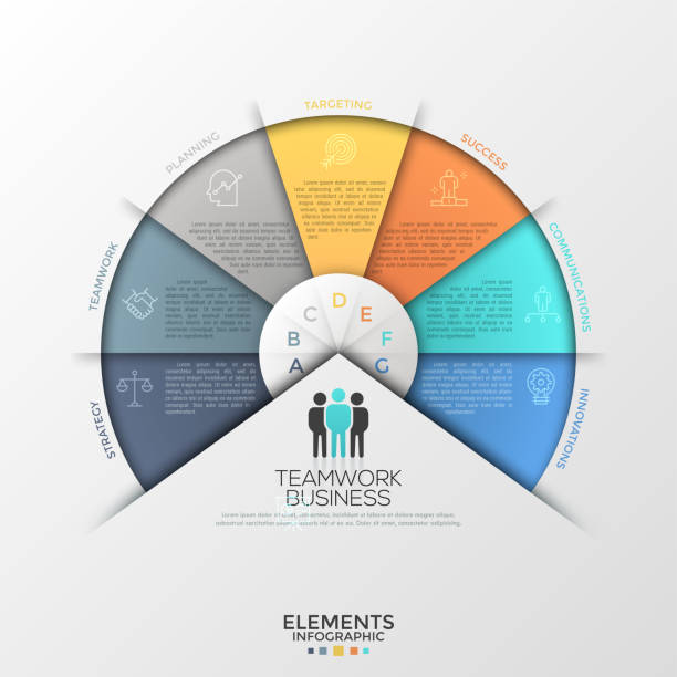 creative infographic design template - infografiki stock illustrations