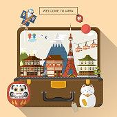 creative Japan travel poster
