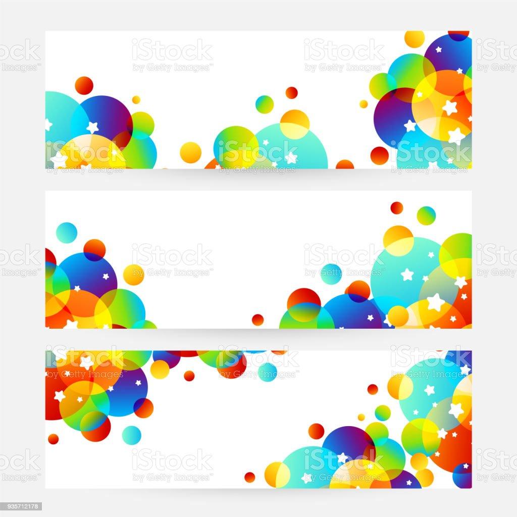 Kreative Kinder Karten Mit Bunten Blase Dekoration Und ...