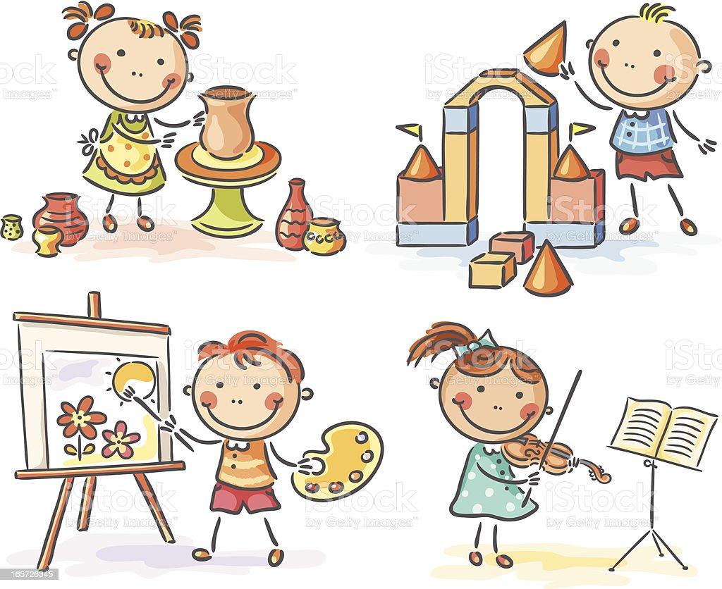 Children Reading Stock Vector Art More Images Of Baby: Creative Kids Stock Vector Art & More Images Of Boys