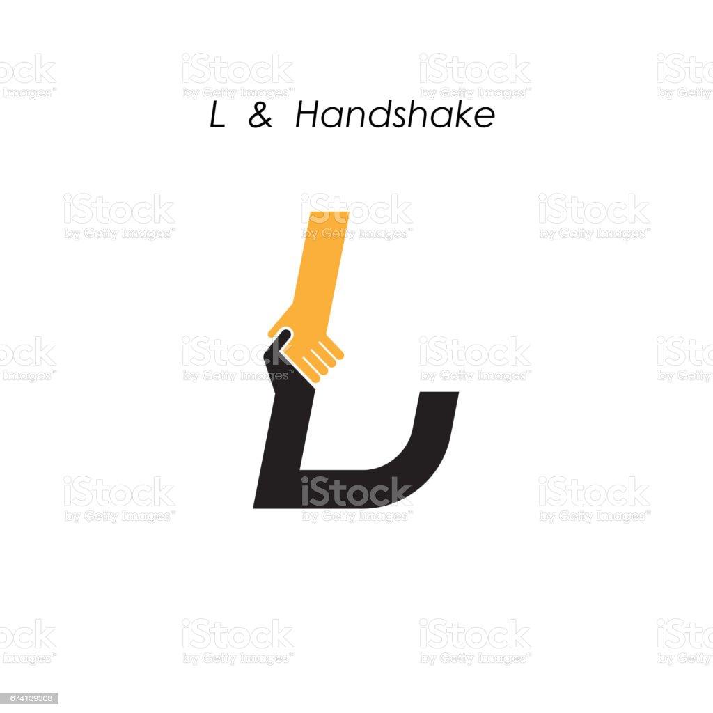 Kreative L-Brief-Symbol abstrakten Symbol Vektor Entwurfsvorlage. Business-Angebot, Partnerschaft-Symbol. Corporate Business und industrielle Icontype Symbol. Vektor-illustration – Vektorgrafik