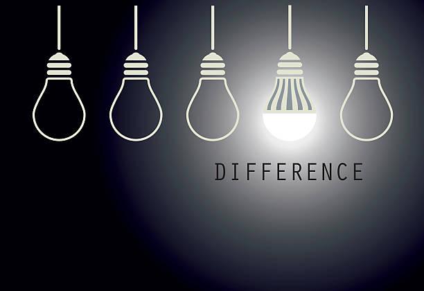 creative led light bulb idea - led stock-grafiken, -clipart, -cartoons und -symbole