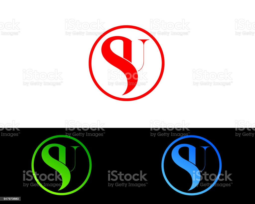 Su Creative Letter Design Stock Vector Art More Images Of Abstract
