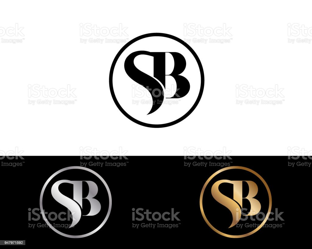 Sb Creative Letter Design Stock Vector Art More Images Of Abstract