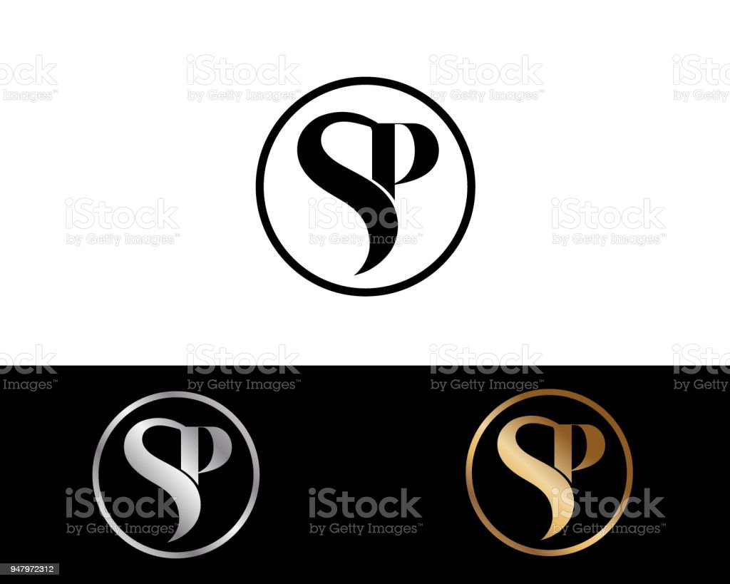 Sp Creative Letter Design Stock Vector Art More Images Of Abstract