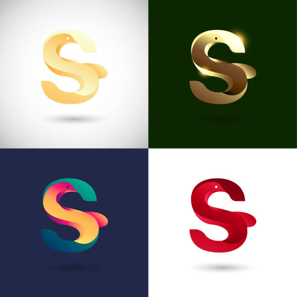 Creative Letter S logo design with different color version. Vector of Bird Logo Concept vector art illustration