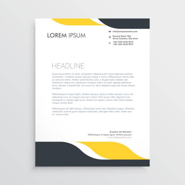creative letterhead design template vector creative letterhead design template vector letterhead stock illustrations