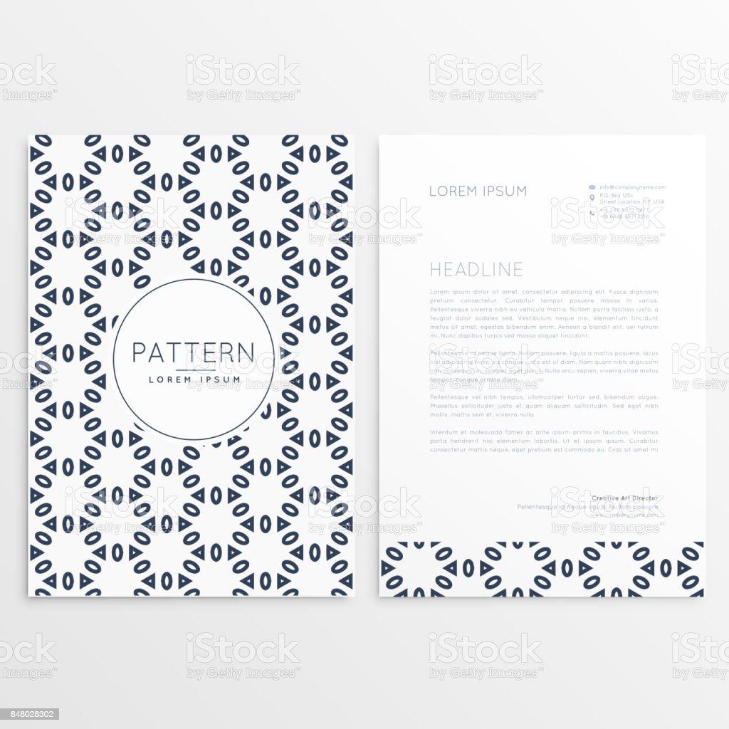 Kreative Briefkopf Design Mit Vorderund Rückseite Stock Vektor Art