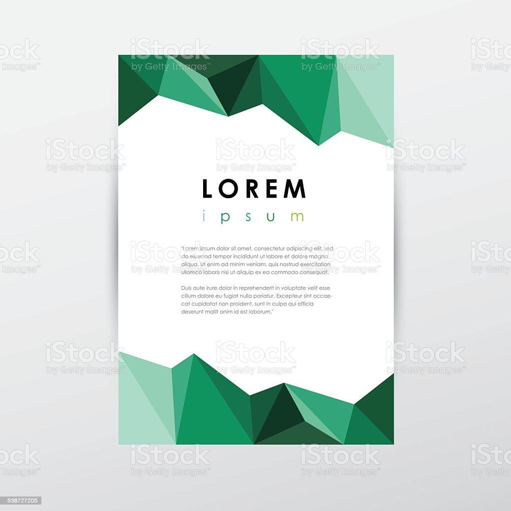 Kreative Vorlage Papier Dokumentieren Bei Schlechten Polygonstil ...