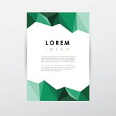 creative letterhead template document in low polygon style