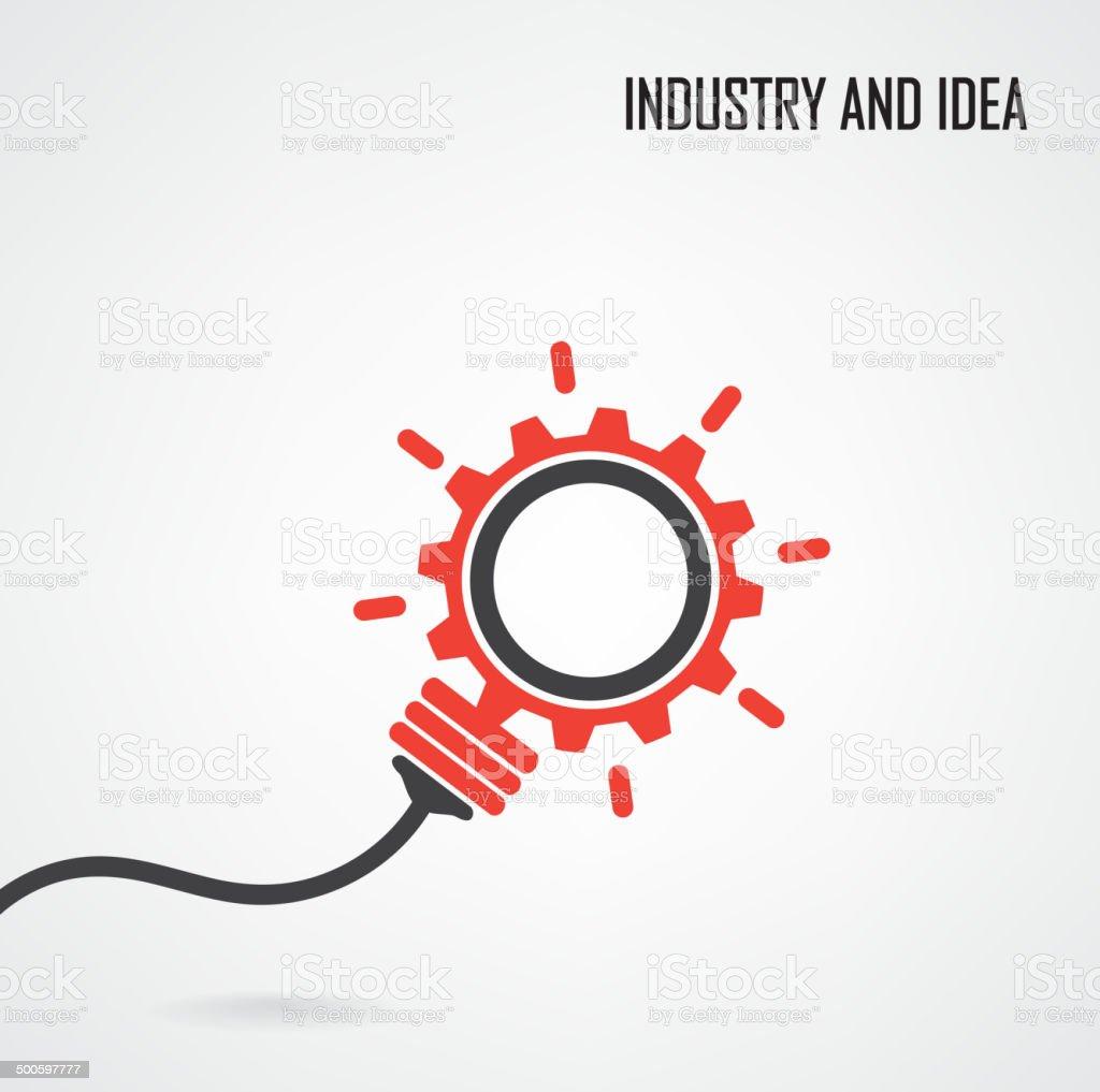 Creative light bulb concept background vector art illustration