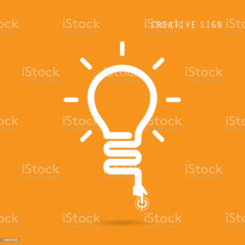Creative light bulb concept, design for poster flyer cover brochure vector art illustration