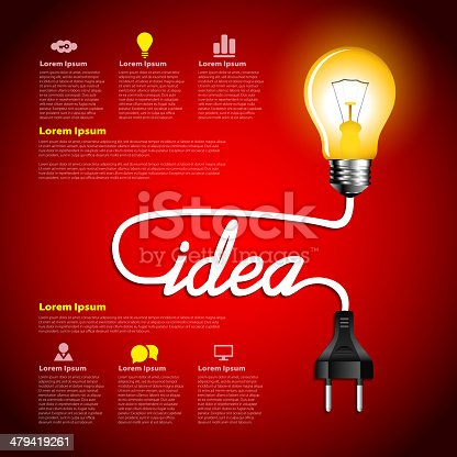 Creative light bulb idea abstract infographic, Inspiration concept modern design template workflow layout