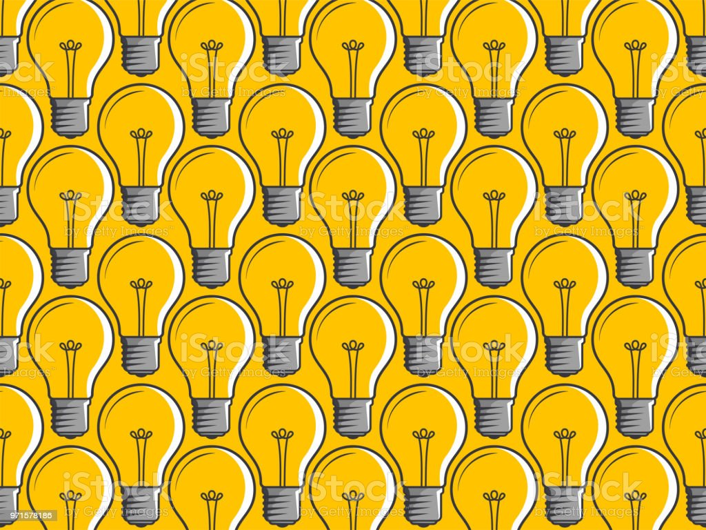 Creative Light Bulb Idea Concept On Yellow Background Innovation