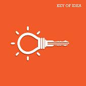 Creative light bulb idea concept with padlock symbol
