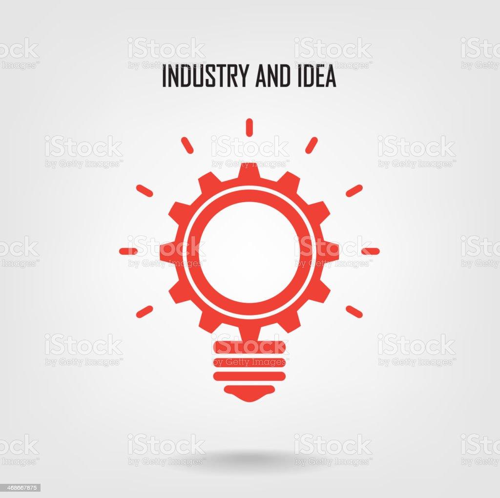 Creative light bulb sign vector art illustration